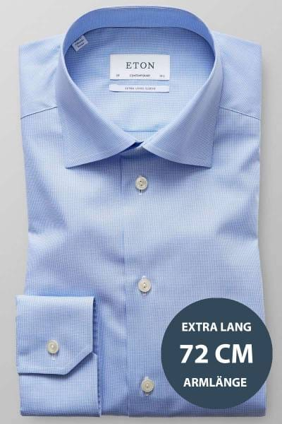 ETON Contemporary Fit Hemd blau/weiss, Hahnentritt