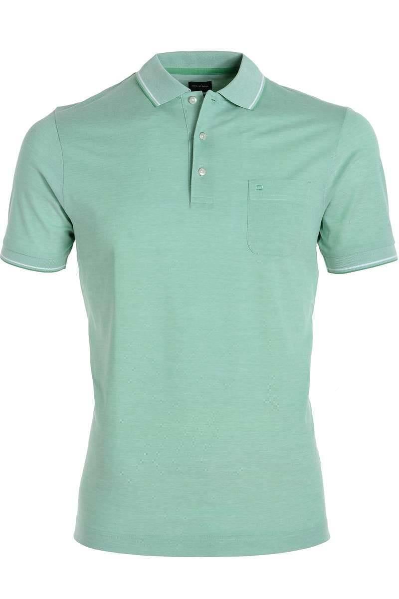 OLYMP Casual Modern Fit Poloshirt grünweiss, Zweifarbig