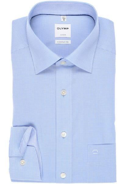 Olymp Luxor Comfort Fit Hemd bleu/weiss, Kariert