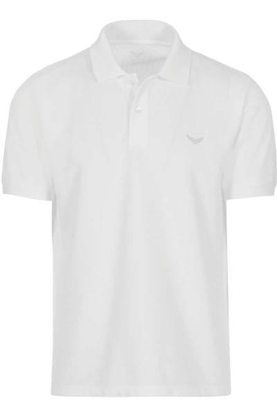TRIGEMA Comfort Fit Poloshirt weiss, Einfarbig
