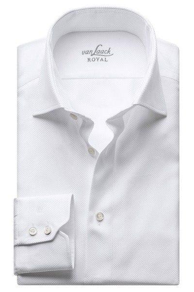 van Laack Hemd - Tailor Fit - weiss, Strukturiert
