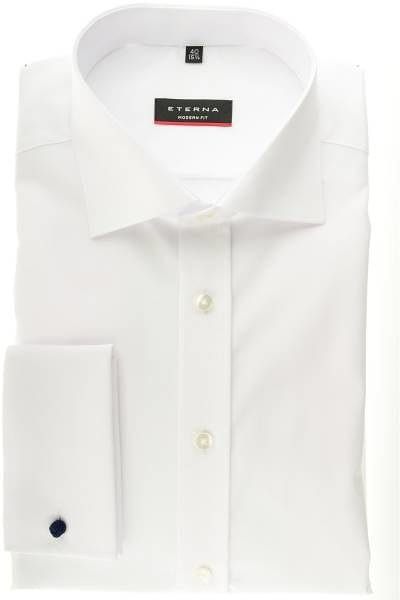 Eterna Hemd - Modern Fit - extra langer Arm (68cm) - Umschlagmanschette - weiss, Einfarbig