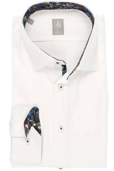 Jacques Britt Custom Fit Hemd weiss, Einfarbig