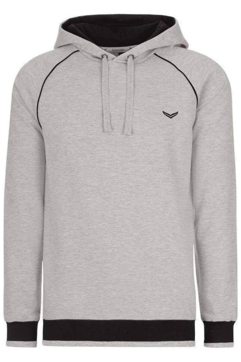 TRIGEMA Slim Fit Kapuzen Sweatshirt grau, einfarbig M