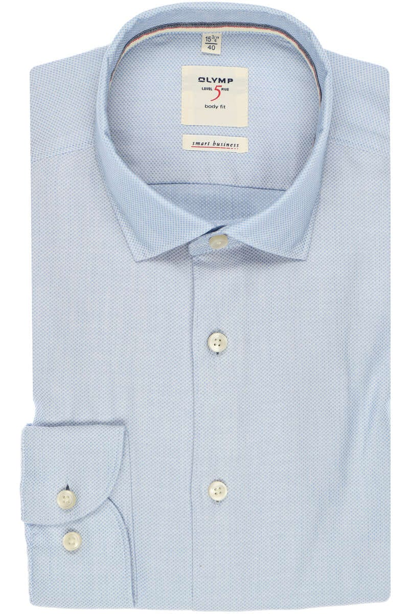OLYMP Level Five smart business Body Fit Hemd bleu, Faux-uni (extra langer Arm) 40 - M
