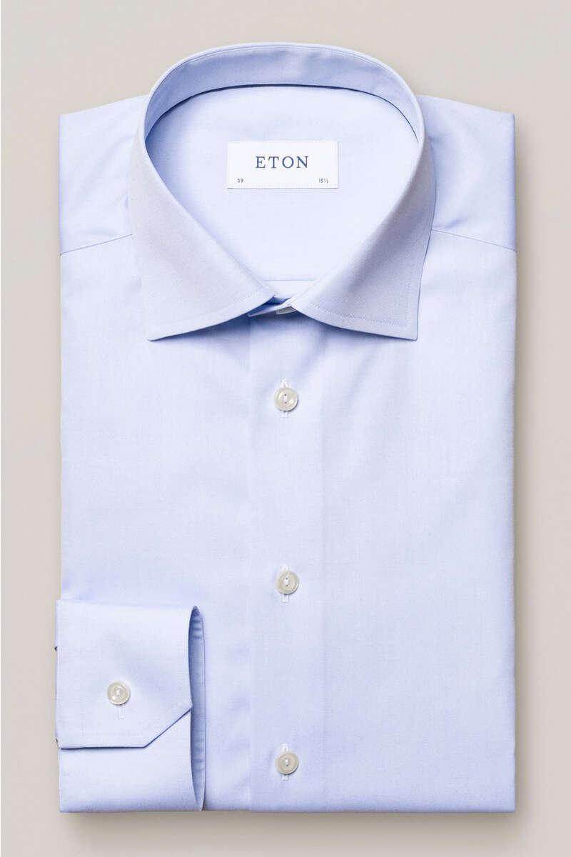 ETON Slim Fit Hemd hellblau, Einfarbig 40 - M