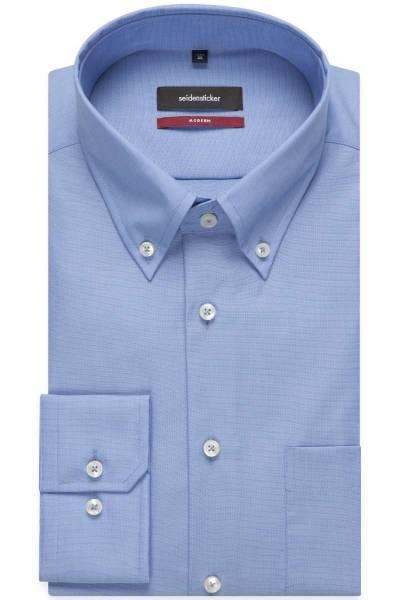 Seidensticker Hemd - Modern Fit - blau, Einfarbig