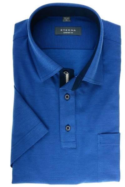 ETERNA Comfort Fit Hemd blau, Einfarbig