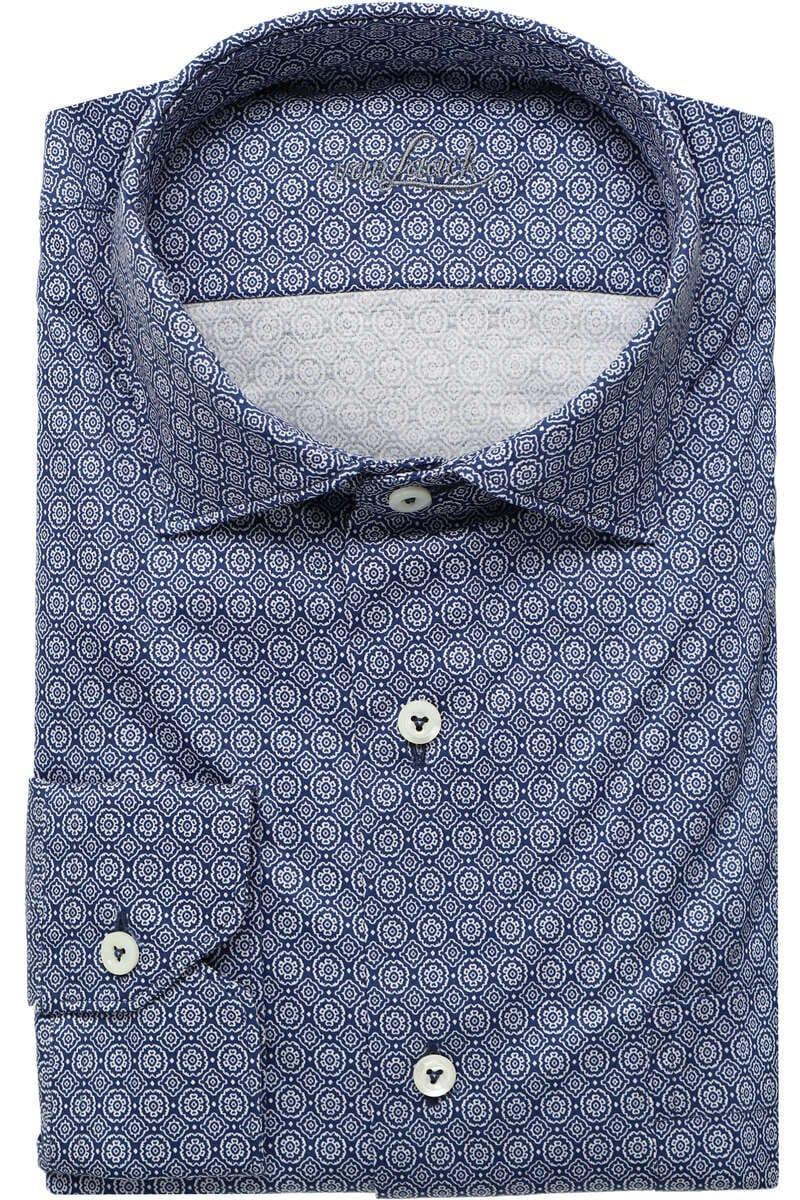 Van Laack Tailor Fit Jerseyhemd blau/weiss, Gemustert XL