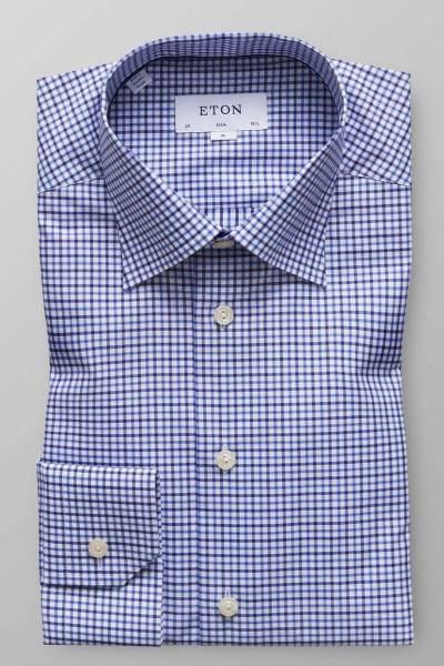 ETON Slim Fit Hemd blau, Kariert
