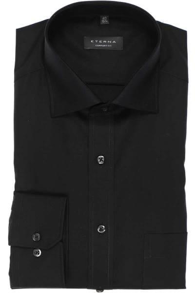 Eterna Hemd - Comfort Fit - schwarz, Einfarbig