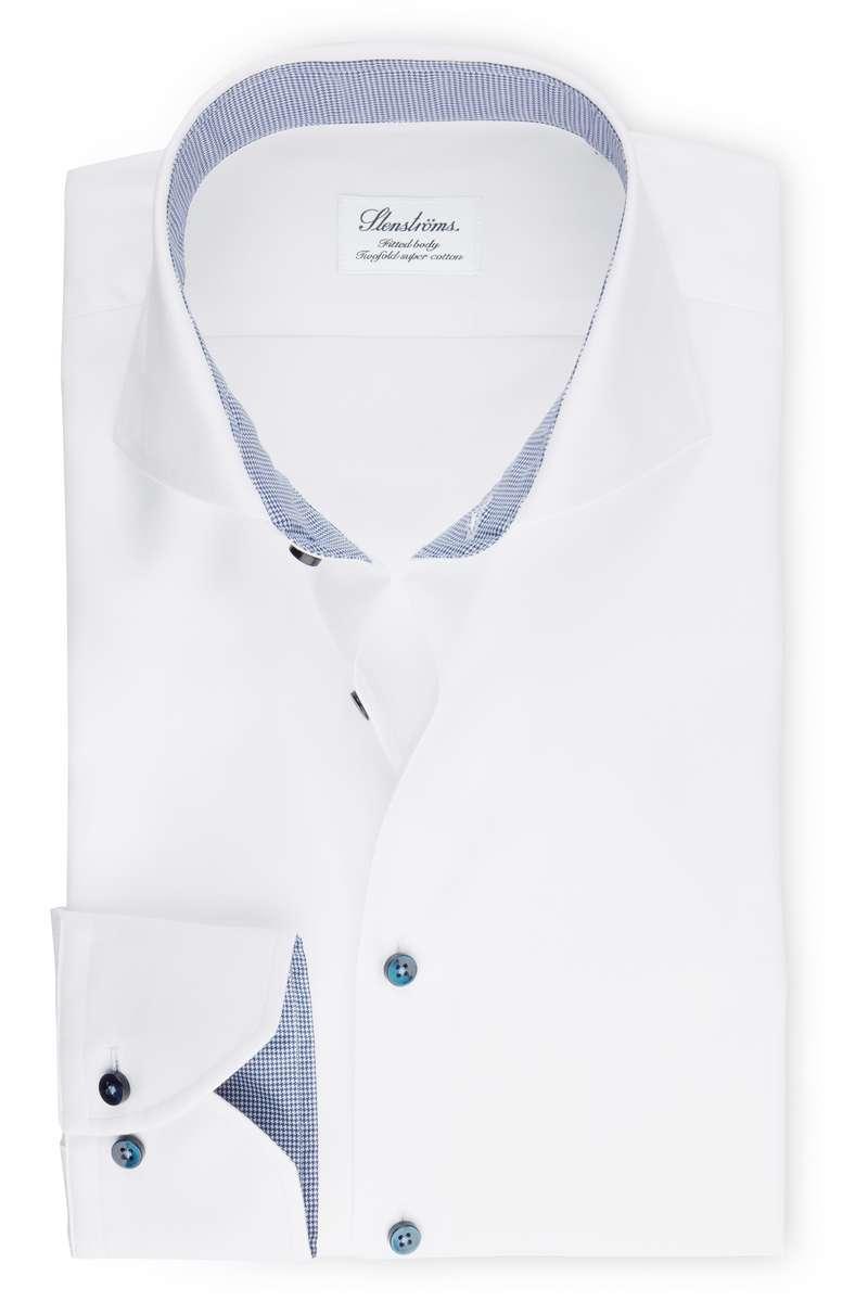 Stenströms Fitted Body Hemd weiss, Einfarbig 39 - M