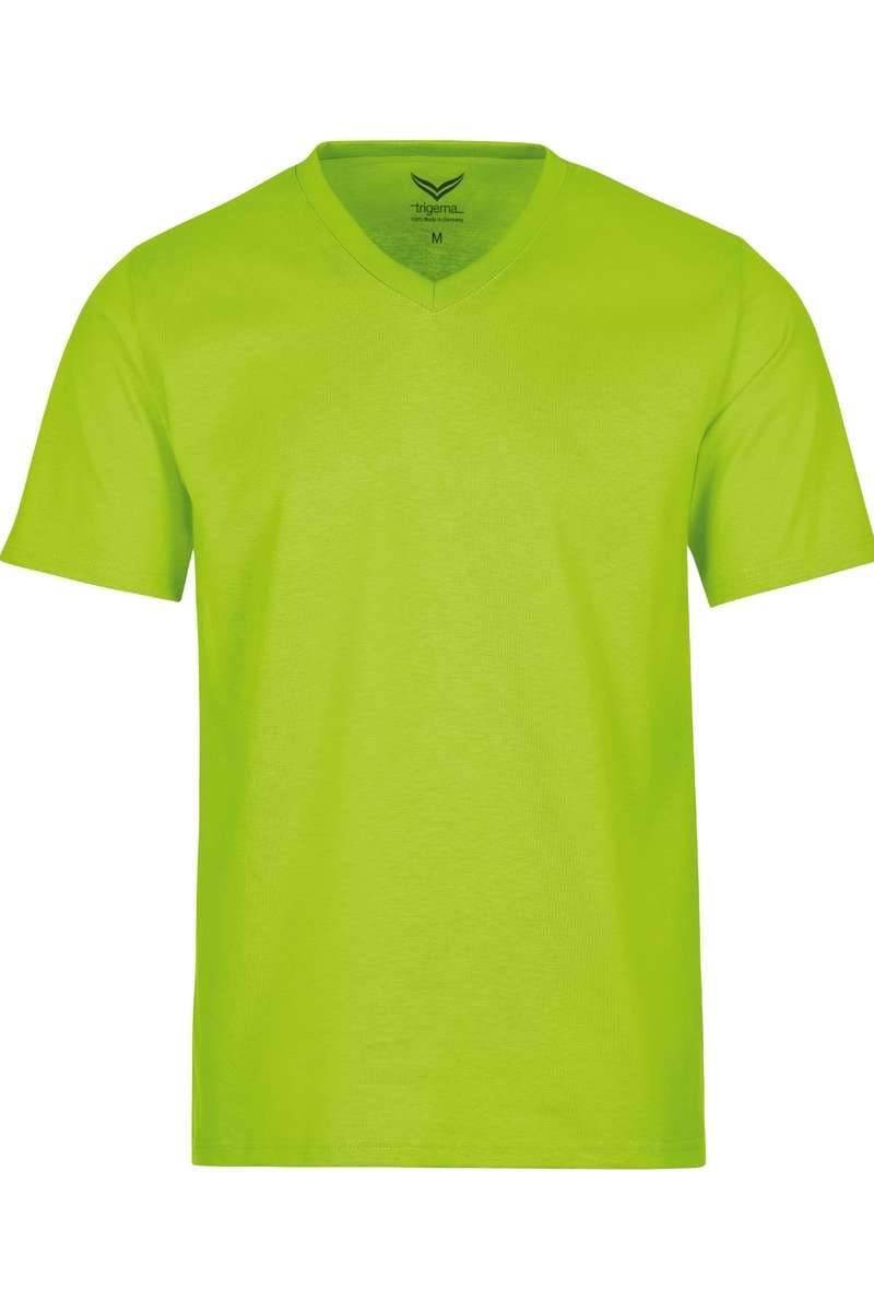 TRIGEMA T-Shirt V-Ausschnitt lemon, einfarbig