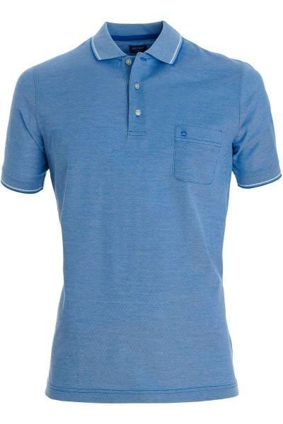 OLYMP Casual Modern Fit Poloshirt blau, melange