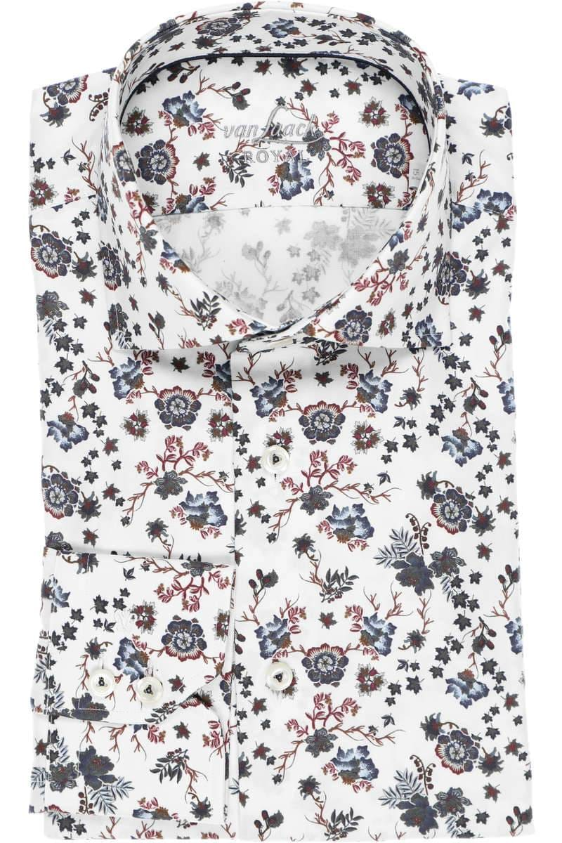 van Laack Tailor Fit Hemd weiss/blau, Blumen