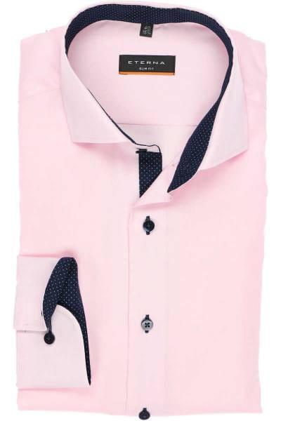 Eterna Hemd - Slim Fit - rosa, Einfarbig