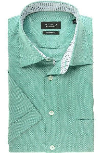 Hatico Hemd - Modern Fit - grün, Einfarbig