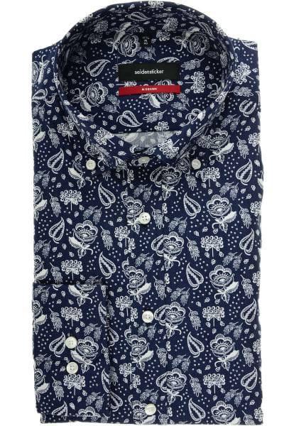 Seidensticker Modern Fit Hemd marine/weiss, Paisley