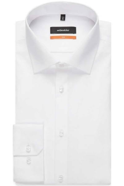 Seidensticker Hemd - Slim Fit - weiss, Einfarbig