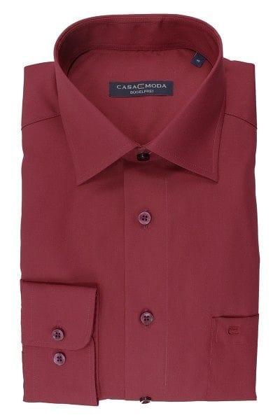 Casa Moda Hemd - Regular Fit - bordeaux, Einfarbig