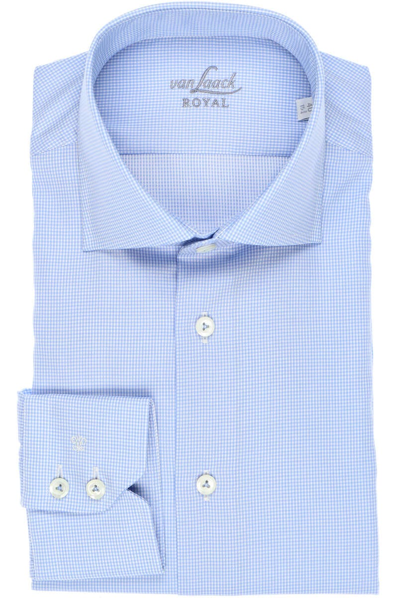 van Laack Tailor Fit Hemd blau/weiss, Vichykaro 42 - L