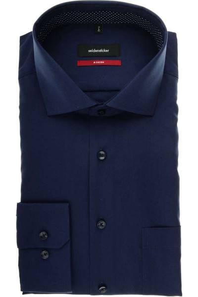 Seidensticker Modern Fit Hemd marine, Einfarbig