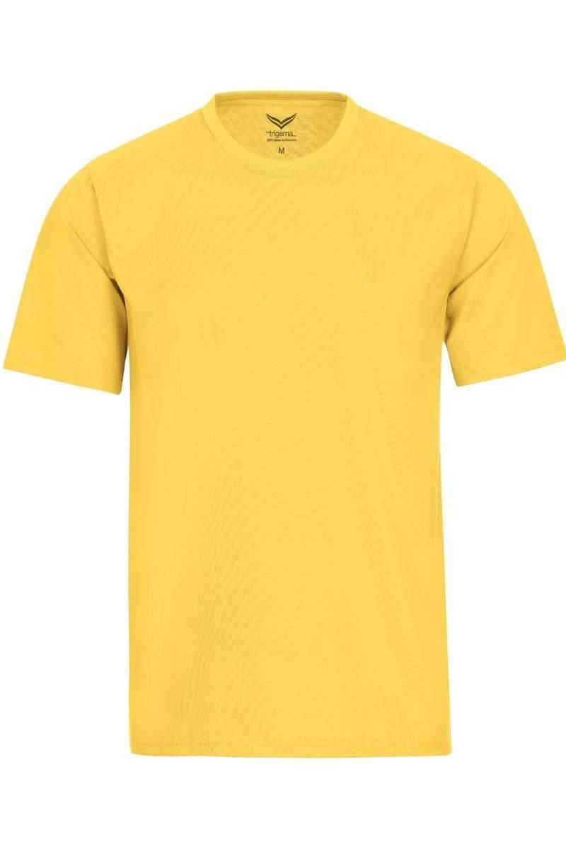 TRIGEMA T-Shirt Rundhals gelb, einfarbig