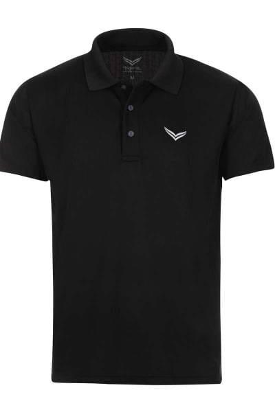TRIGEMA COOLMAX Comfort Fit Poloshirt schwarz, Einfarbig