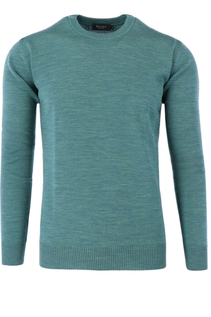 Maerz Casual Classic Fit Pullover Rundhals graugrün, einfarbig 50