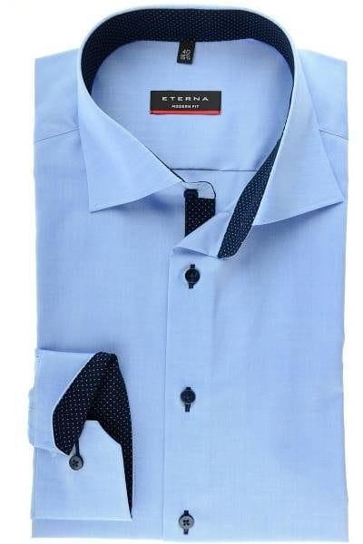 Eterna Hemd - Modern Fit - hellblau, Einfarbig
