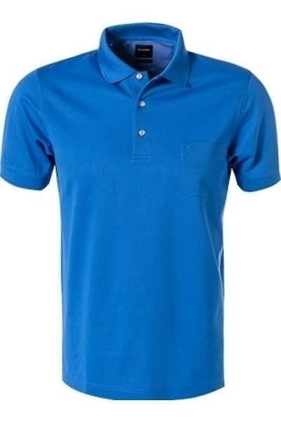 Olymp Modern Fit Poloshirt eisblau, Einfarbig