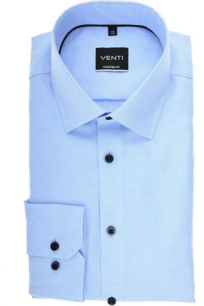 Venti Modern Fit Hemd blau, Faux-uni