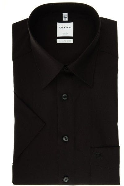Olymp Hemd - Comfort Fit - schwarz, Einfarbig