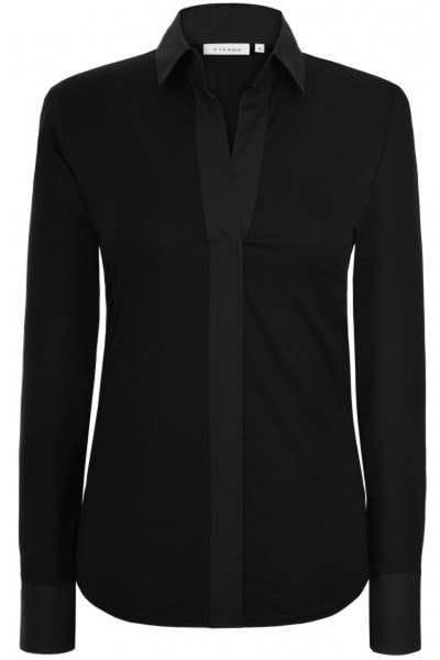 Eterna Bluse Comfort Fit - schwarz, Einfarbig