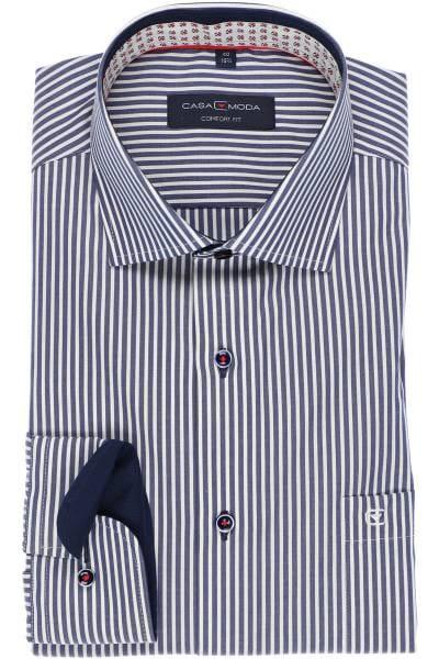 Casa Moda Comfort Fit Hemd marine/weiss, Gestreift