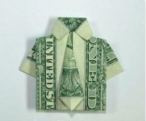 Wie Sie in 5 Minuten aus einem Geldschein ein Hemd falten