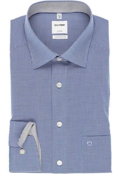 Olymp Luxor Comfort Fit Hemd royal/weiss, Kariert