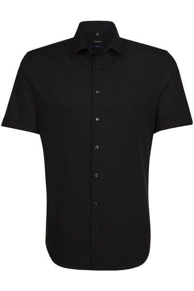Seidensticker Hemd - Tailored - schwarz, Einfarbig