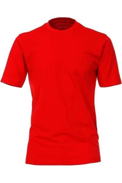Casa Moda T-Shirt Rundhals rot, einfarbig
