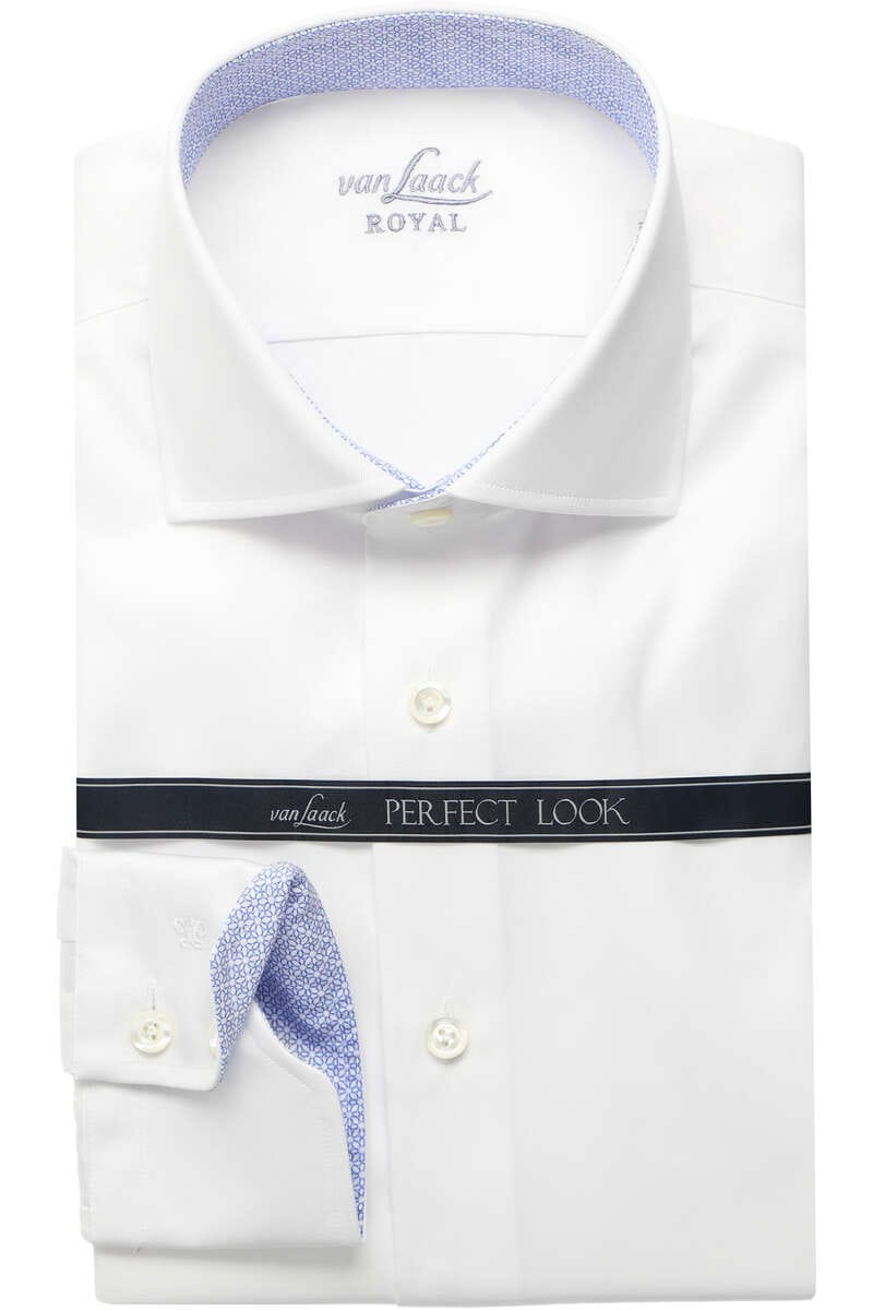 Van Laack Slim Fit Hemd weiss, Einfarbig 42 - L