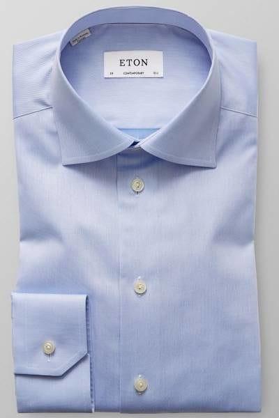 Eton Hemd - Contemporary Fit - hellblau, Einfarbig