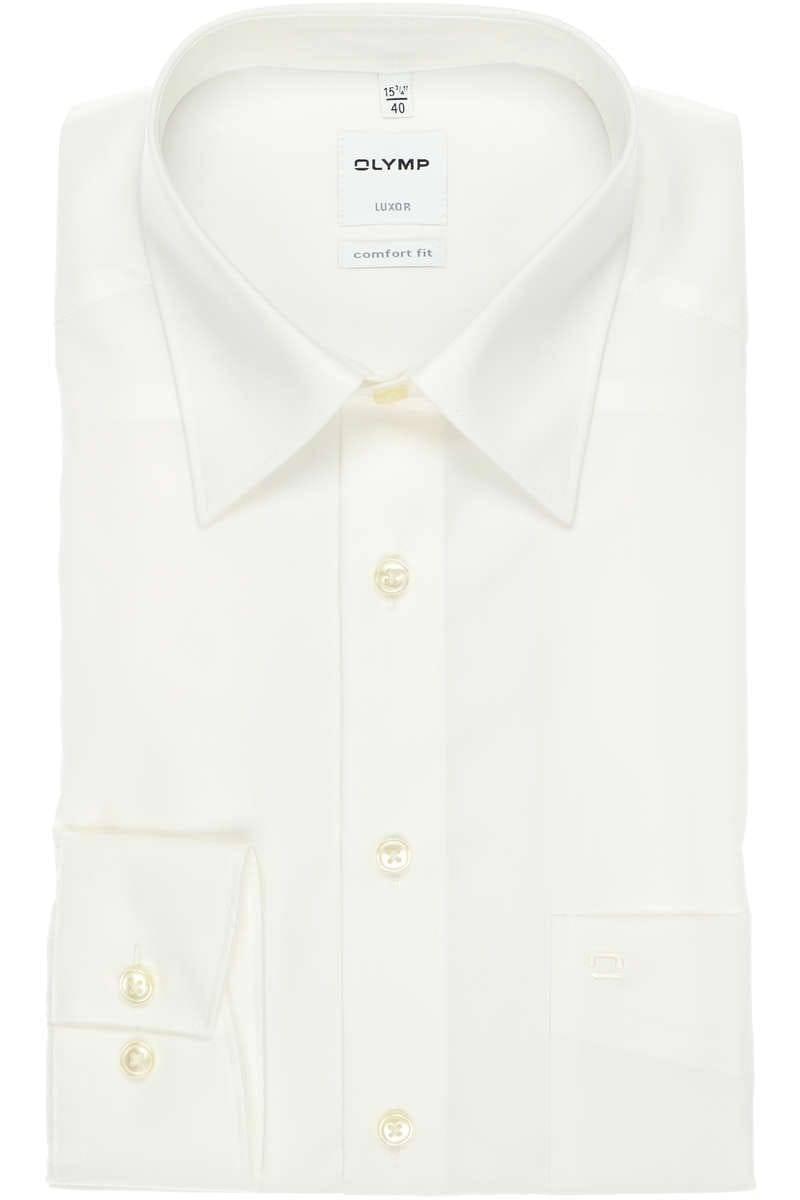 Olymp Luxor Comfort Fit Hemd creme, Einfarbig