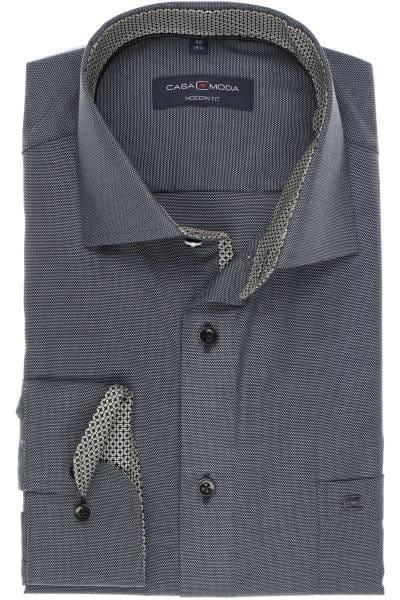 Casa Moda Modern Fit Hemd anthrazit silber, Strukturiert