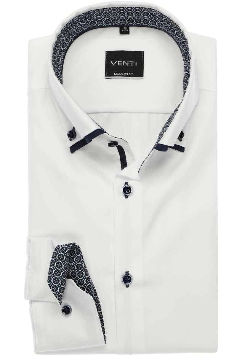 Venti Modern Fit Hemd weiss, Einfarbig 40 - M