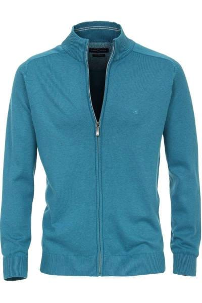Casa Moda Cardigan Zipper türkis, einfarbig