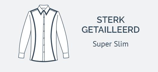 Wit Overhemd Super Slim Fit