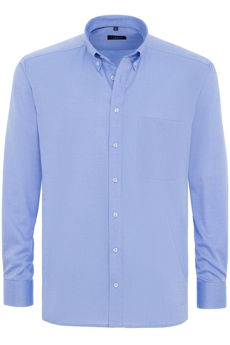 eterna comfort fit hemd in langarm 65cm bleu einfarbig. Black Bedroom Furniture Sets. Home Design Ideas