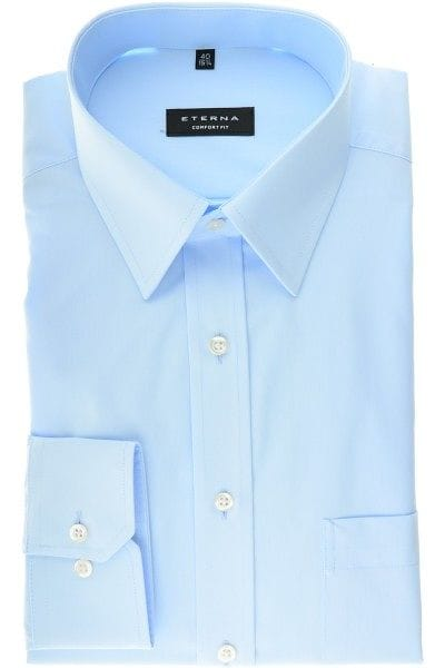 Eterna Hemd - Comfort Fit - hellblau, Einfarbig