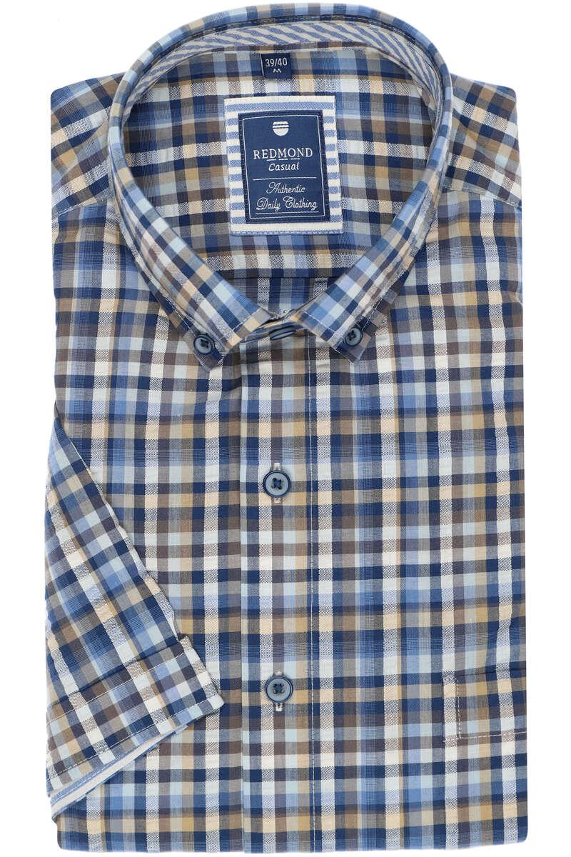 Redmond Regular Fit Hemd grau, Kariert L