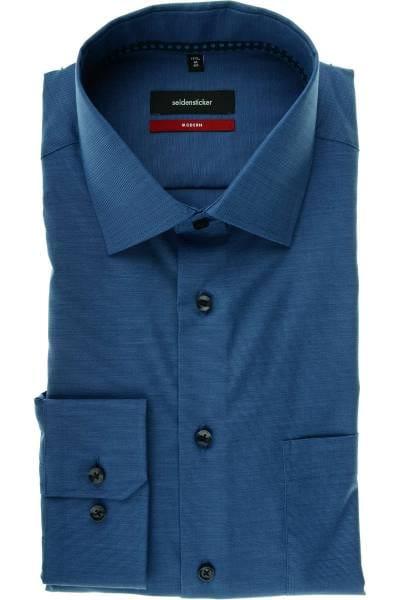 Seidensticker Modern Fit Hemd dunkelblau, Faux-Uni